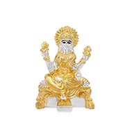 Laxmi with gold silver coating