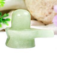 Light Green Jade Shivlinga - 61 gms