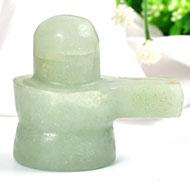 Light Green Jade Shivlinga - 89 gms