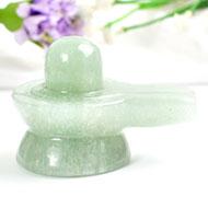 Light Green Jade Shivlinga - 95 gms