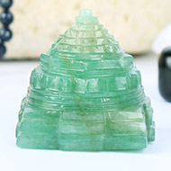 Light Green Jade Shree Yantra - 110 gms
