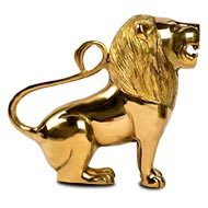 Lion in brass - Big
