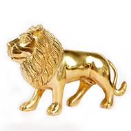 Lion in brass