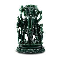 Lord Dattatreya in Columbian Green Jade