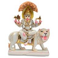 Goddess Pratyangira Devi marble idol
