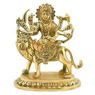 Maa Durga in brass - Design IV