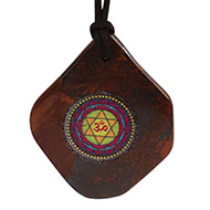 Maha Sudarshan Yantra Pendant on Tiger Eye