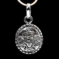 Mahakali Locket in Pure Silver - Design V