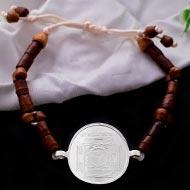 Mahakali Yantra in Silver Bracelet