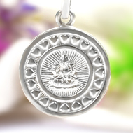 Mahalakshmi Locket in Pure Silver - Design IV