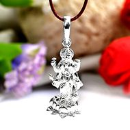 Mahalaxmi Locket in Pure Silver - VI