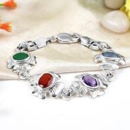 Mahalaxmi Ratna Kavacham - 3 to 4 carat gems - Design II