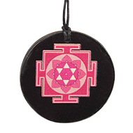 Mahalaxmi Yantra locket on Rosewood