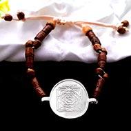 Mahamritunjaya Yantra in Silver Bracelet