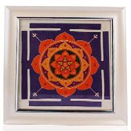 Mahamrityunjay Yantra on silk with frame