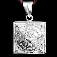 Mahamrityunjaya Yantra Locket in Silver - 3D