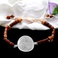 Mahasudarshan Yantra in Silver Bracelet