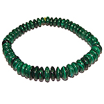 Malachite Bracelet - Elliptical beads