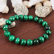 Malachite Bracelet in Round Beads