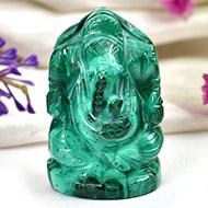 Malachite Ganesha - 79 gms