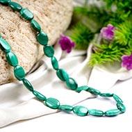 Malachite Mala - Oval Beads