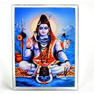 Meditating Shiva Glittering Photo