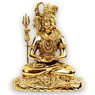 Meditation Mudra Shiva in brass