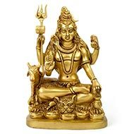 Meditation Shiva in brass - I