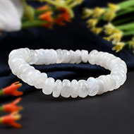 MoonStone Bracelet - Washer Beads