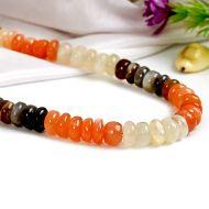 Moonstone multicolor mala - Button shaped