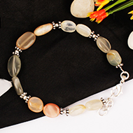 Moonstone Oval 9mm Bracelet- Design II