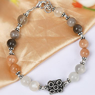 Moonstone Round beads Bracelet - 7mm