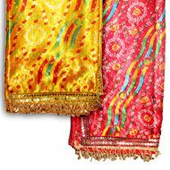 Multi coloured Chunri