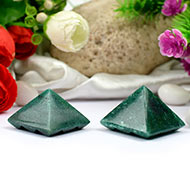 Multi Pyramid - Green Jade - set of 2