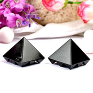 Multi Pyramid in Black Jade - Set of 2