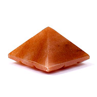 Multi Pyramid in Orange Jade-Protection and Joy-14 gms