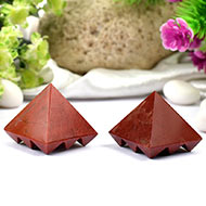 Multi Pyramid in Red Jasper - Set of 2