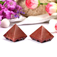 Multi Pyramid - Red Jasper - Set of 2