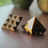 Multi Pyramid - Tiger Eye - Set of 2