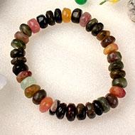 Multi Tourmaline Bracelet - Elliptical Beads