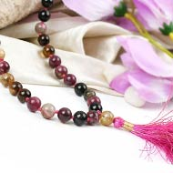 Multi Tourmaline Mala - 8 mm