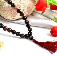 Multi Tourmaline Mala - Round Beads