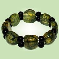 Multicolor Agate Bracelet - Cushion Round beads