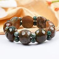 Multicolor Jasper Bracelet - Cushion Round beads