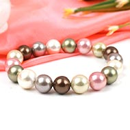 Multicoloured Pearl Bracelet - 9mm