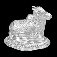 Nandi in Pure Silver - II