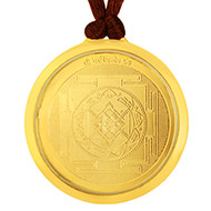 Narasimha and Sri Yantra locket - Gold plated