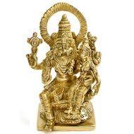 Narasimha Lakshmi statue in brass - I