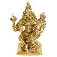 Narasimha Lakshmi statue in brass