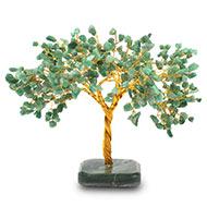 Natural Green Jade Chakra Vastu Tree - Big